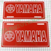 Наклейка (накладка на номер) декор YAMAHA (22.7x12.6см, красная) (#4299B)