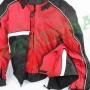 Мотокуртка текстильная 2 в 1 черно-бело-красная ATROX NF-7111