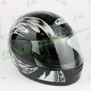 Шлем FXW HF-109 Черный глянцевый с рисунком