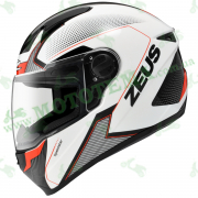 Мотошлем ZEUS ZS-811 White AL6 Red