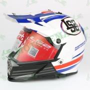 Шлем мотард кроссовый с очками LS2 MX436 Pioneer Quarterback