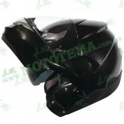 Мотошлем ZEUS ZS-3100 Solid Black (черный глянец)
