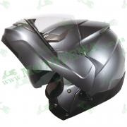 Мотошлем ZEUS ZS-3100 Titanium (серый глянец)