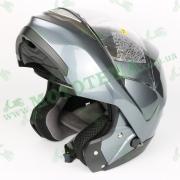 """Мотошлем """"ZEUS"""" ZS-3100 TITANIUM (серый глянец)"""