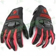 Мотоперчатки SCOYCO (красно-чёрные, текстиль)