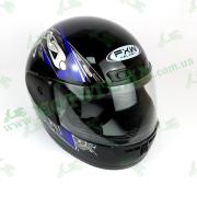 Шлем FXW HF-101 Черно-синий глянцевый