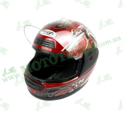 Шлем FXW HF-109 Красный глянцевый с рисунком