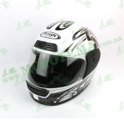 Шлем FXW HF-109 Белый глянцевый с рисунком