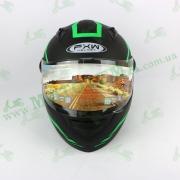 Шлем FXW HF-111 Черно-зеленый матовый
