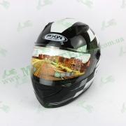 Шлем FXW HF-111 Черно-белый глянцевый