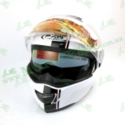 Шлем FXW HF-119 Белый глянцевый с черной полосой