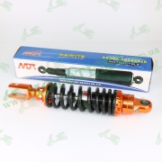 """Амортизатор   GY6, DIO ZX   310mm, тюнинговый с подкачкой, внутренный балон   (оранжево-черный)   """"NDT"""""""
