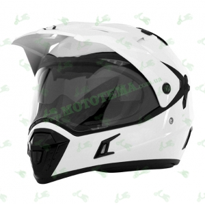 Шлем (мотард) ISPIDO DESERT белый глянцевый