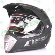 Шлем (мотард) ISPIDO DESERT черный матовый
