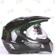 Шлем (мотард) ISPIDO DESERT черный глянцевый