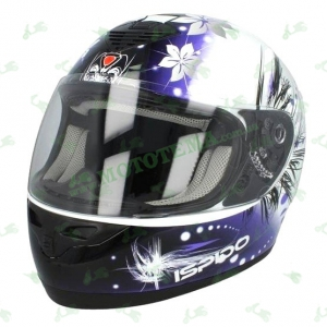 Шлем (интеграл) ISPIDO PULSE grafic lady синий