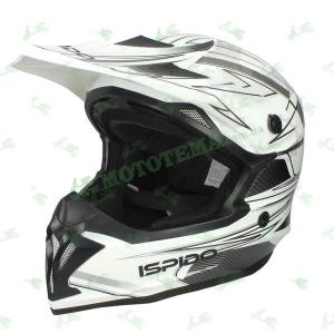 Шлем (кроссовый) ISPIDO HUMMER белый/черный глянцевый