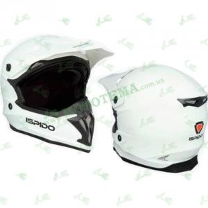 Шлем (кроссовый) ISPIDO HUMMER белый глянцевый