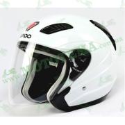 Шлем (открытый) ISPIDO AVIATOR белый глянцевый
