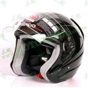 Шлем (открытый) ISPIDO AVIATOR черный глянцевый