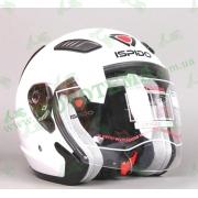 Шлем (открытый) ISPIDOAVIATORSV с очками белый глянцевый