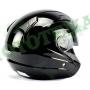 Шлем (открытый)ISPIDOAVIATORSV с очками черный глянцевый