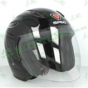 Шлем (открытый) ISPIDO LIBERTY черный глянцевый