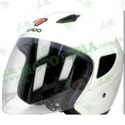 Шлем (открытый) ISPIDO LIBERTY белый глянцевый
