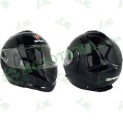 Шлем (модуляр) ISPIDO HYBRID с очками черный глянцевый