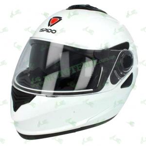 Шлем (модуляр) ISPIDO HYBRID с очками белый глянцевый