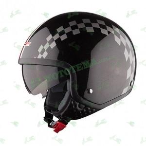 Мотошлем (открытый с очками) LS2 OF561 DINOCO черный глянцевый