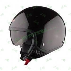 Мотошлем (открытый с очками) LS2 OF561 WAVE черный глянцевый