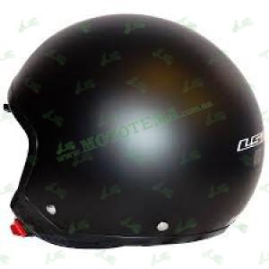 Мотошлем (открытый с очками) LS2 OF561 WAVE черный матовый