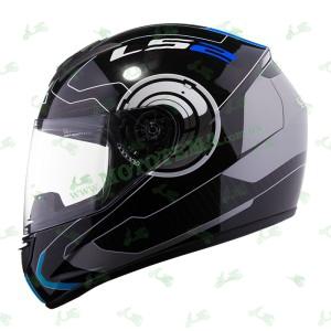 Мотошлем LS2 FF351 Atmos чорный/синий глянцевый