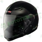 Шлем-полулицевик LS2 OF569 Scape Gloss Black с модулем защиты подбородка