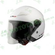 Шлем-полулицевик LS2 OF569 Track Gloss White