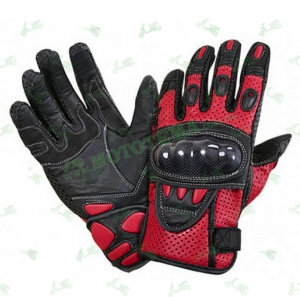 Мотоперчатки Xelement XG-298 (кожа / перфорация) красные