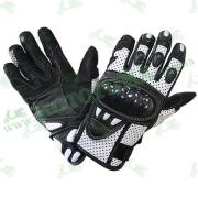 Мотоперчатки Xelement XG-298 (кожа / перфорация) белые