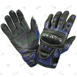 Мотоперчатки Xelement XG-298 (кожа / перфорация) синие
