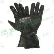 Мотоперчатки Xelement XG-441 Black (кожа / длинные)