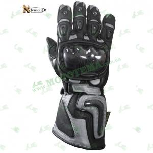 Мотоперчатки Xelement XG-441 Silver (кожа / длинные)