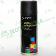 """Эмаль (краска) универсальная аэрозольная чёрная матовая """"LIDER"""""""