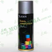"""Эмаль (краска) универсальная аэрозольная серебристая глянцевая """"LIDER"""""""