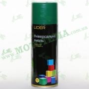 """Эмаль (краска) универсальная аэрозольная зелёная глянцевая """"LIDER"""""""