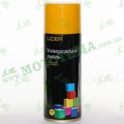 """Эмаль (краска) универсальная аэрозольная жёлтая глянцевая """"LIDER"""""""