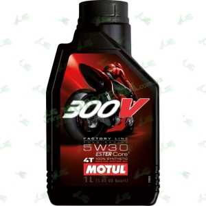 Масло моторное MOTUL 300V Factory Line Road Racing 4T 5W-30 1 литра