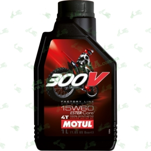 Масло моторное синтетическое MOTUL 15W60 300V 4T FACTORY LINE Off Road ESTER Core 1 литр