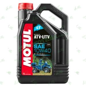 Масло моторное минеральное Motul ATV-UTV 4T 10W40 4 литра