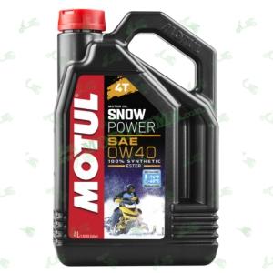 Масло моторное синтетика Motul Snowpower 4T 0W40 Ester 4 литра