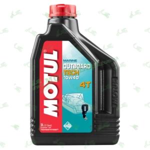 Масло полусинтетическое Motul Outboard Tech 10W40 4T 2 литра для лодочного мотора